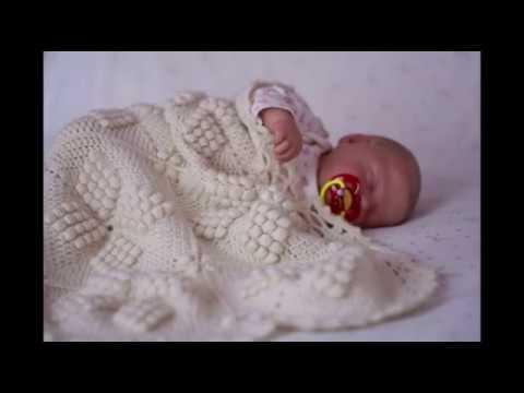 одеяло для новорожденного нежные объятия вязанный плед крючком