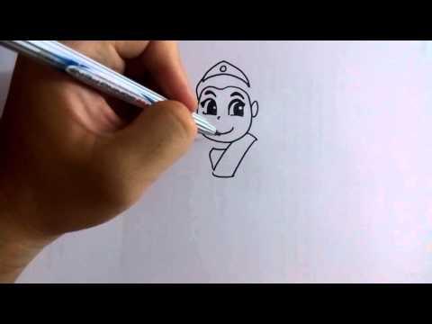 วาดการ์ตูนกันเถอะ สอนวาดการ์ตูน เจ้าหญิง ชุดไทย ง่ายๆ หัดวาดตามได้
