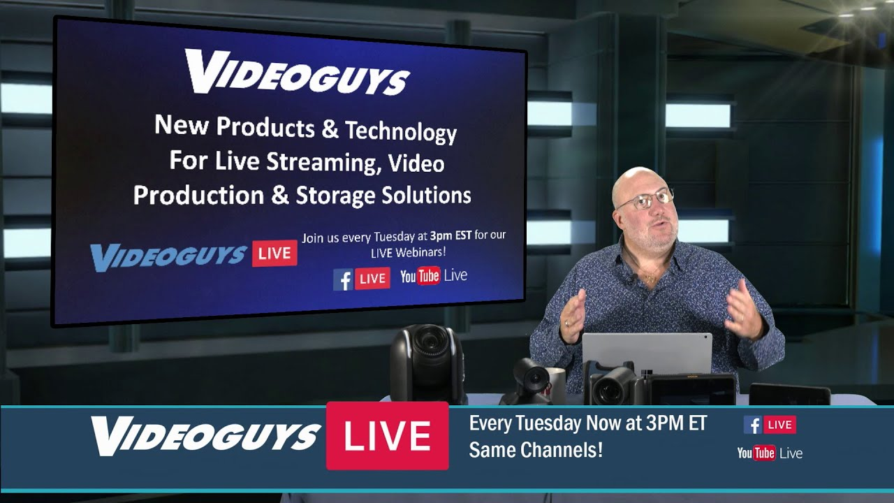 New Products Technology For Live Streaming Video Production Storage Solutions Youtube