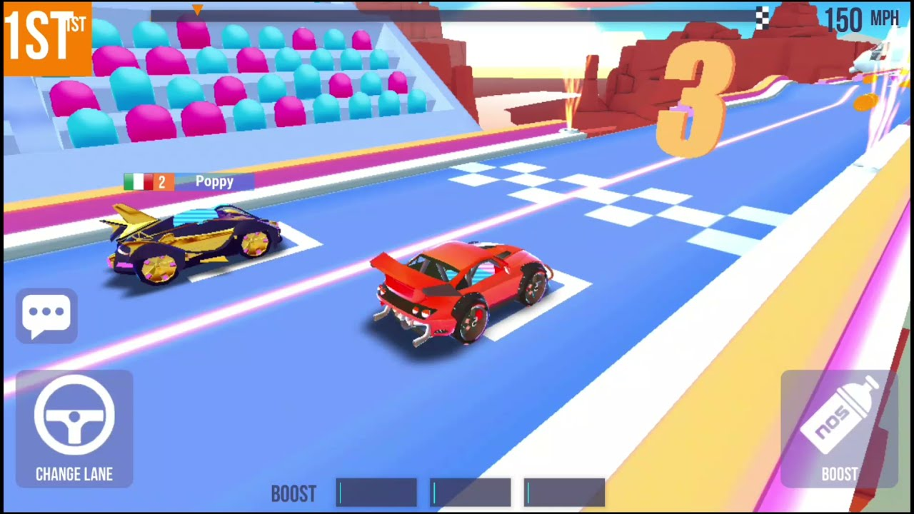 Awesome graphics and racing super cars on SUP Multiplayer Racing game app