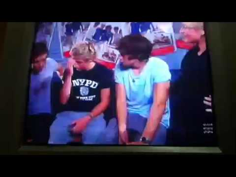 One Direction segment on Australia's funniest home videos.