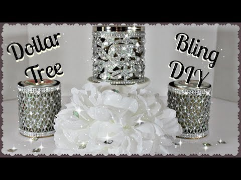 💎Bath And Body Works Inspired Bling Candle Holders💎|| 🎄Dollar Tree DIY|| 💎Affordable Glam💎