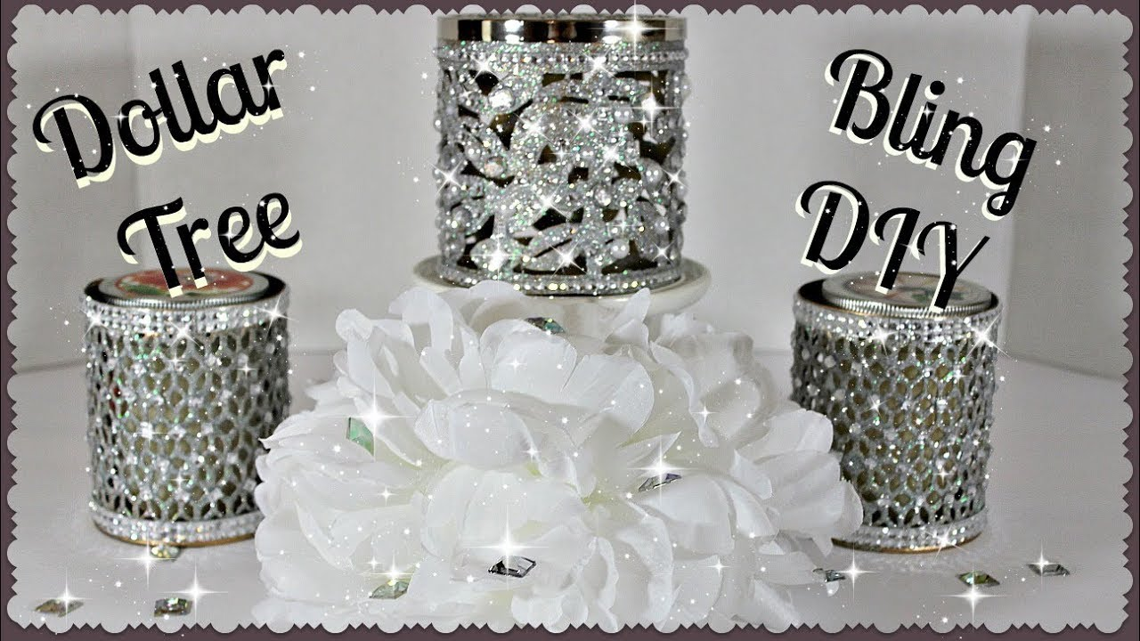 Bath And Body Works Inspired Bling Candle Holders Dollar Tree DIY Affordable Glam  YouTube