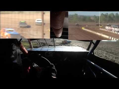 Salina Speedway 9-18-16 Caleb Davis 3 Camera Side By Side