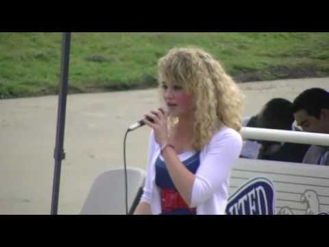 """16-yr-old speaks her mind, sings """"God Bless the U.S.A."""""""