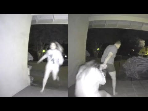 The Morning Madhouse - Woman Screams for Her Life on Doorbell Camera Footage