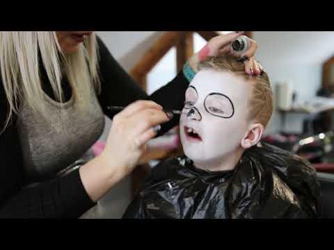Halloween Skull Kids Makeup (Easy) by Tomasina