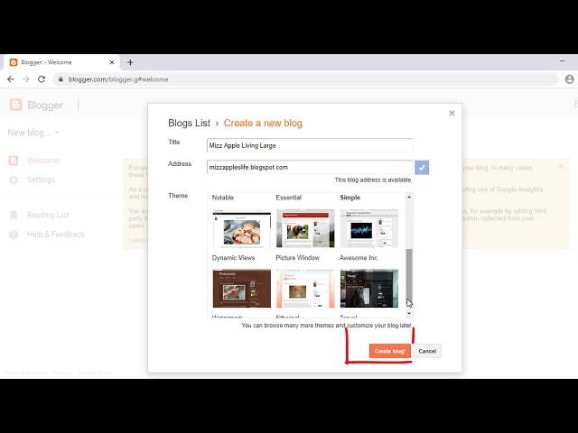 How Do I Create a Blogger Blog Tutorial Video 627