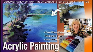 Acrylic Painting Demonstration:  Brunswick Heads