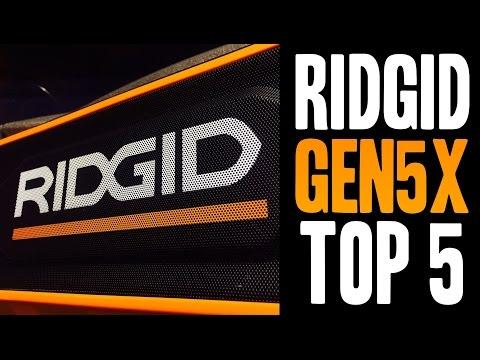 Top 5 RIDGID Gen5X Tools!