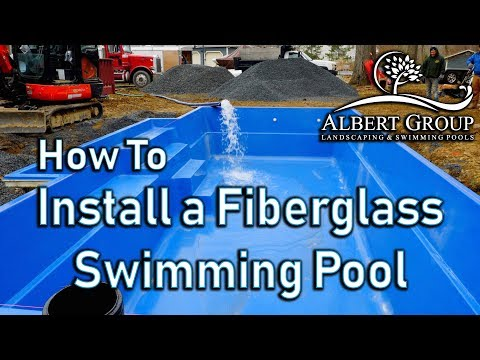How to install a fiberglass swimming pool.