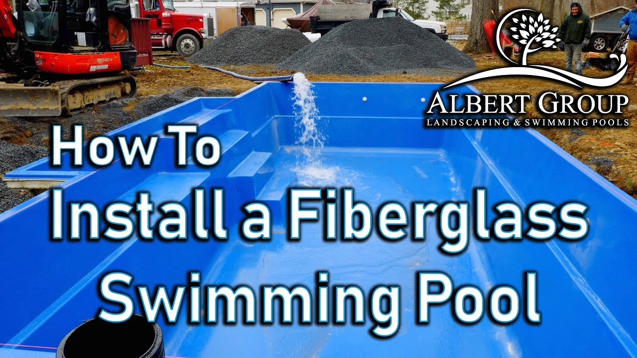 How to install a fiberglass swimming pool. - YouTube