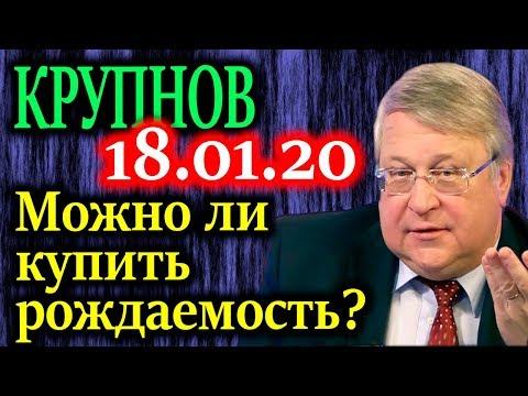 КРУПНОВ. Можно ли купить увеличение рождаемости в России?