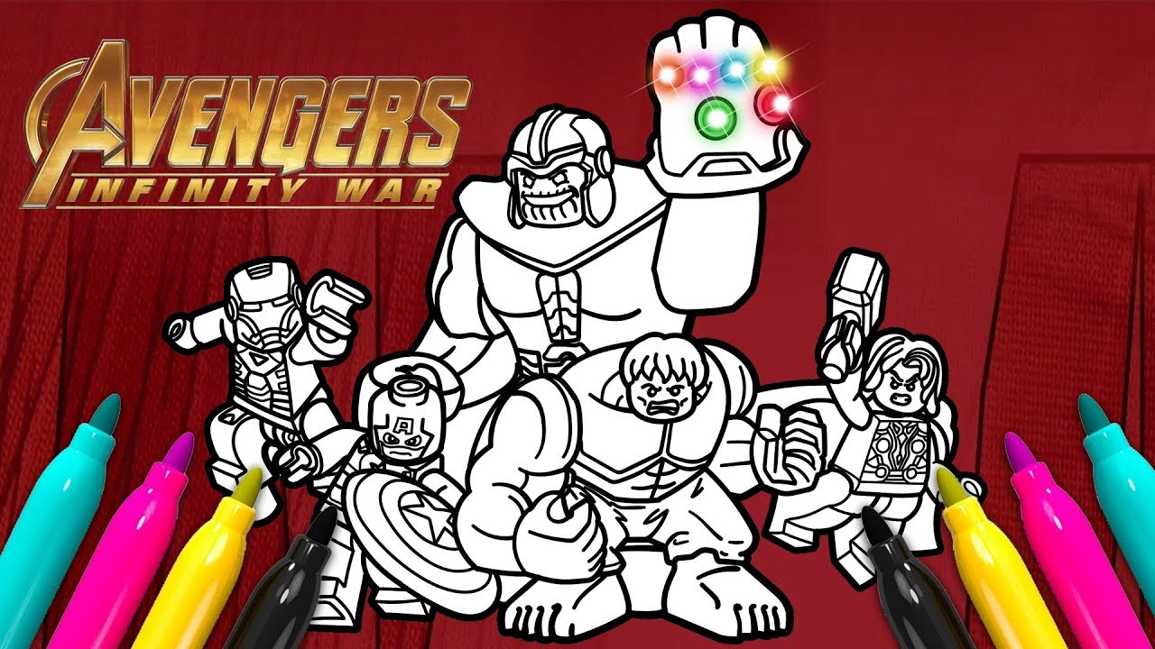 avengers thanos coloring page  lego superheroes series