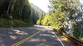 Riding West Around Lake Crescent