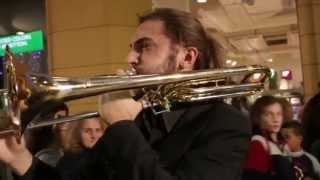 Flash Mob at Shopping Center, Brass Ensemble, Perugia, Italy