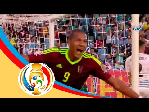 Gol de Salomón Rondón | Uruguay 0 - 1 Venezuela | Televisa Deportes