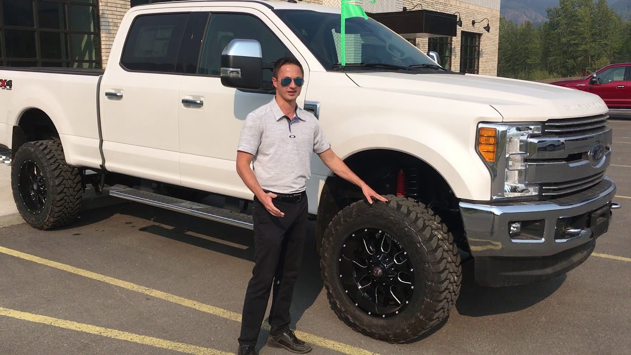 Lifted 2017 Ford F 350 Lariat In White Platinum Tri Coat Fernie