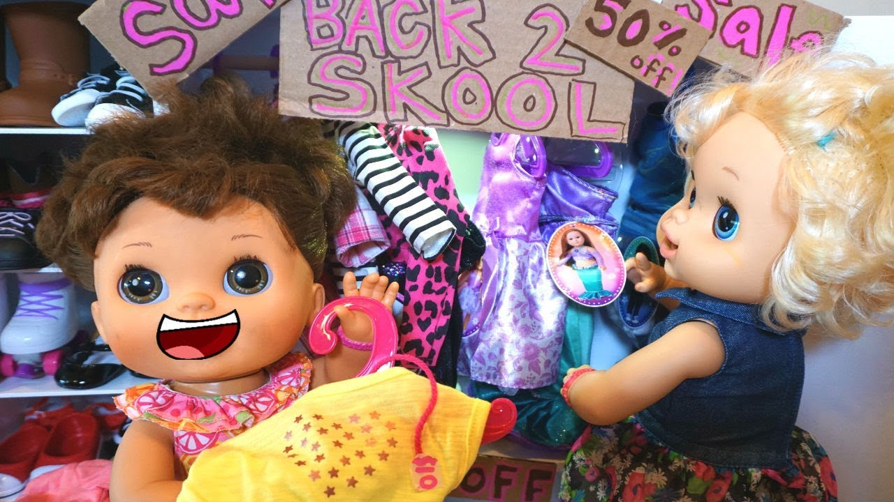 Baby Alive Back To School Shopping For New Clothes Baby