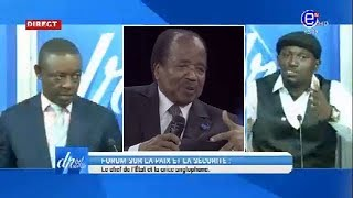 DROIT DE RÉPONSE DU 17/11/2019(FORUM SUR LA PAIX ET LA SÉCURITÉ) EQUINOXE TV