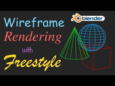 Blender 2.8 : Render Freestyle Wireframes And Composite Over Backgrounds
