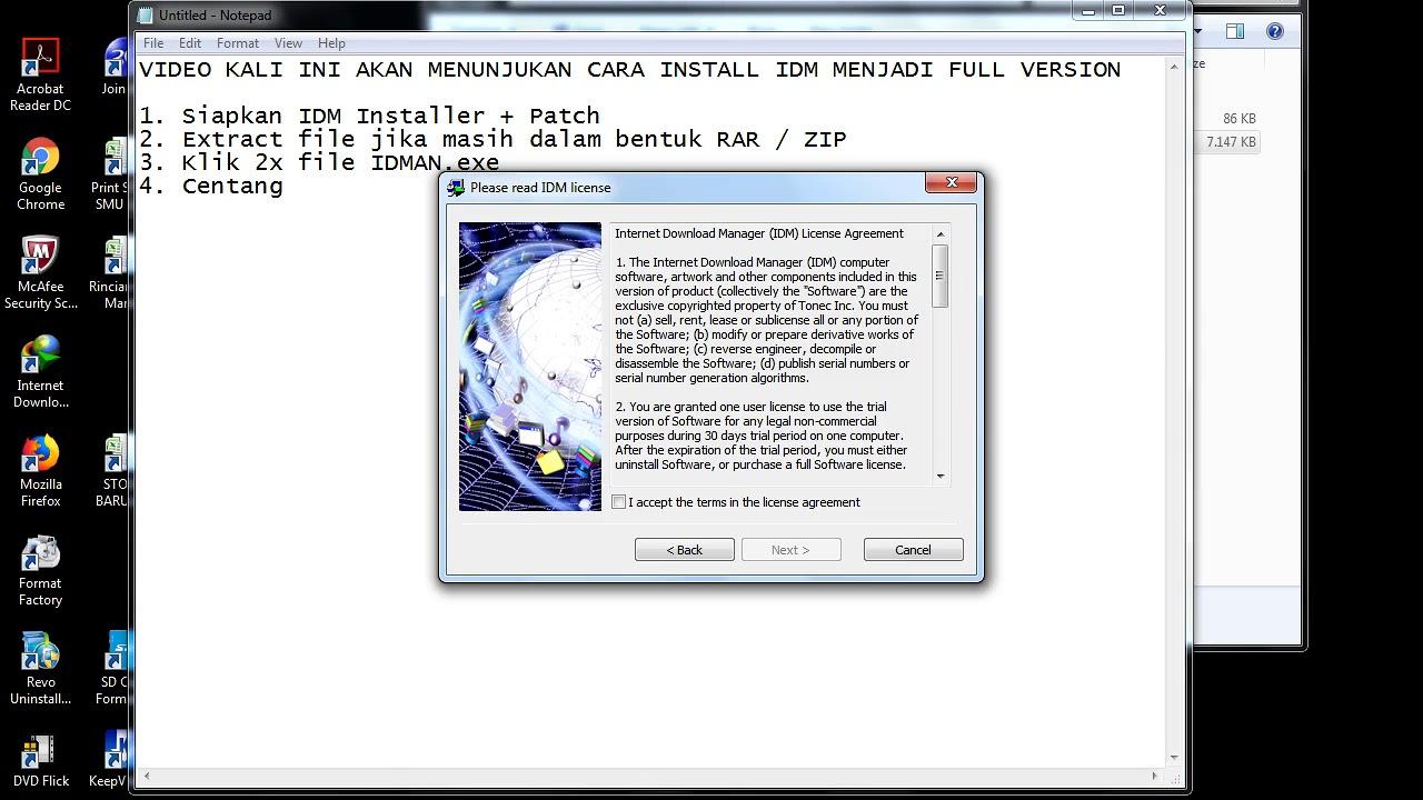 cara membuat idm 6.30 full version