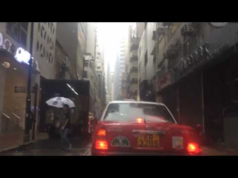 Taxi ride from Western Market to Soho on a rainy day. [Hong Kong, timelapse]