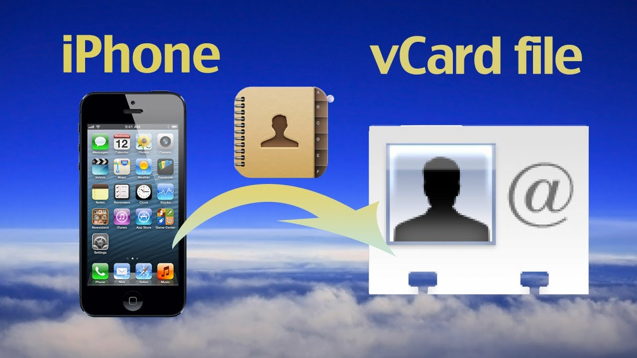 how to make vcard file