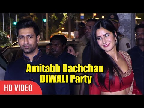 Katrina Kaif And Vicky Kaushal at Amitabh Bachchan DIWALI Party