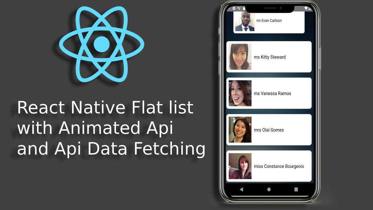 React Native Flastlist with Animated API | Data Fetching