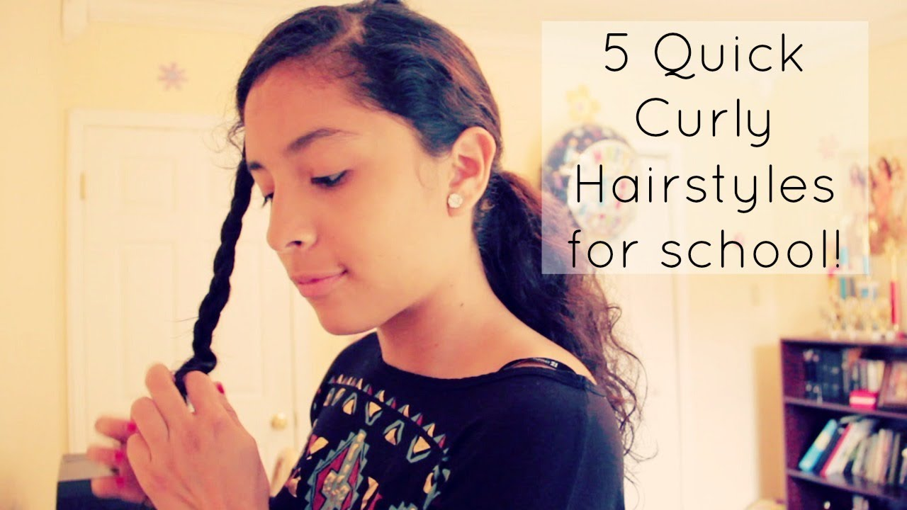 5 Quick Curly Hairstyles For School! YouTube