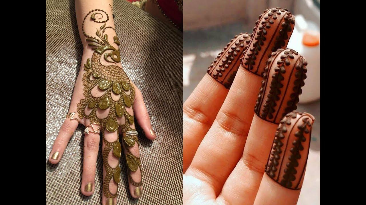 Mehndi Fingers Rating : Beautiful hand mehndi designs simple fingers henna youtube