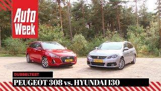 Peugeot 308 vs. Hyundai i30 - AutoWeek Dubbeltest - English subtitles