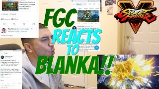 Blanka Reveal: The FGC and Pros Reactions: SFV