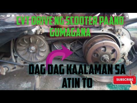 Cvt drive ng beat, click,mio,aerox etc scooter paano gumagana.