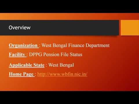 WBFIN DPPG Pension Files Status Check West Bengal – www statusin in
