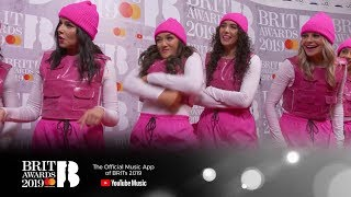Learning to dance with Little Mix's dancers | The BRIT Awards 2019