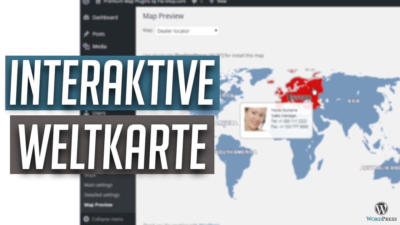 Interaktive Weltkarte Mit Einem Wordpress Plugin Einbinden