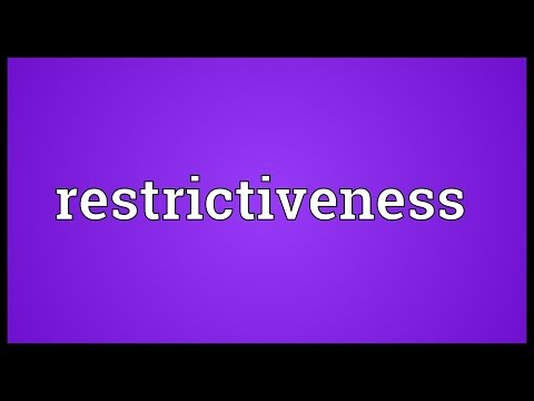 Header of restrictiveness