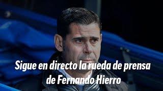 Rueda de prensa de Fernando Hierro, en directo