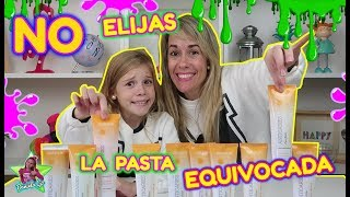 DON'T CHOOSE THE WRONG TOOTHPASTE SLIME CHALLENGE!! No elijas la Pasta de Dientes equivocada SLIME