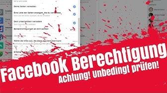 Achtung! Facebook Berechtigungen Prüfen! Facebook Login und Verknüpfungen Check