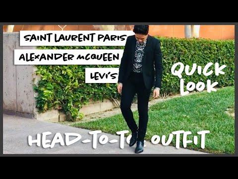 Quick Look: Saint Laurent Paris FW13 Black Leather Wyatt Harness