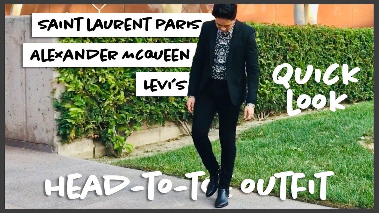 453eca0b6b8 Quick Look: Saint Laurent Paris FW13 Black Leather Wyatt Harness