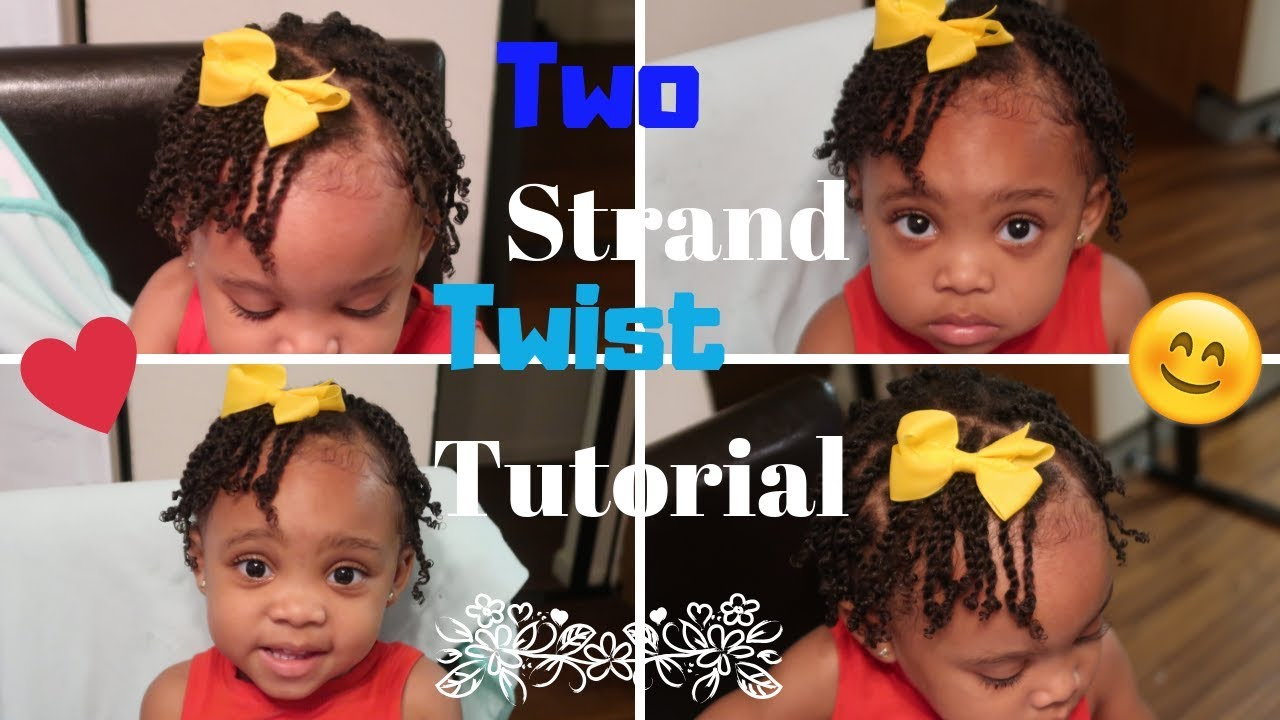 Two Strand Twists On Toddler Natural Hairstyle For Kids Youtube