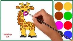 Cara Menggambar Dan Mewarnai Jerapah Untuk Tk Paud