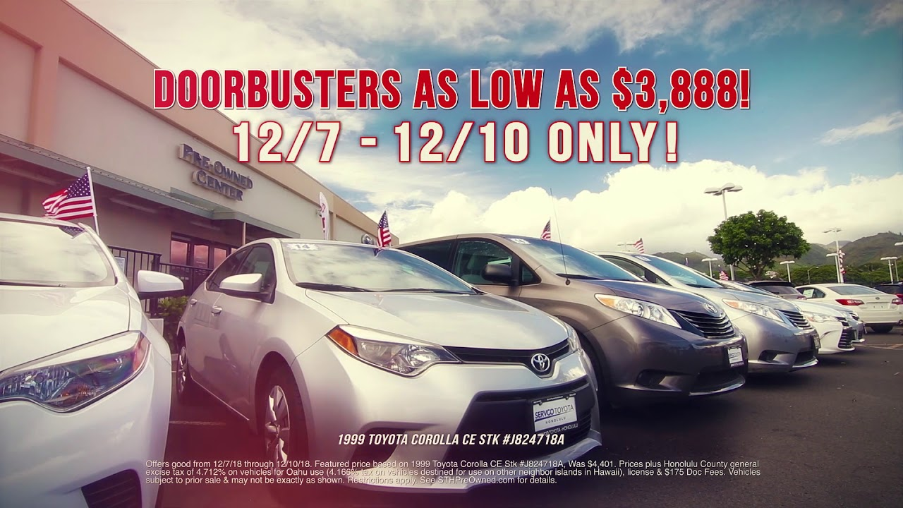 Best Of The Best Weekend Blowout Servco Toyota Honolulu Pre Owned
