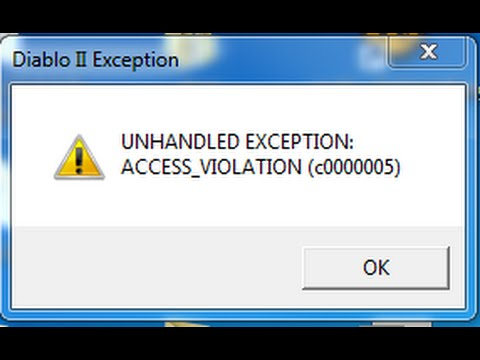Tutorial: Diablo 2 startet nicht - UNHANDLED EXCEPTION ACCESS_VIOLATION  (c0000005)
