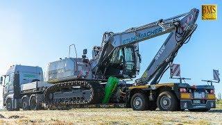 Großer Raupenbagger ATLAS 260 LC neu - Holzfäller Forstmaschinen im Einsatz - woodcutter at work