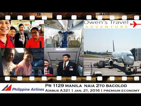 PHILIPPINE AIRLINES PR 1129 MANILA TO BACOLOD ON AIRBUS A321 BUSINESS CLASS SEAT